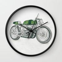 motorbike Wall Clocks featuring MOTORBIKE by EDENLAND