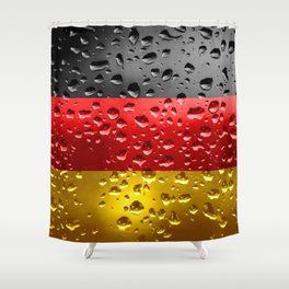 Flag of Germany - Raindrops Shower Curtain