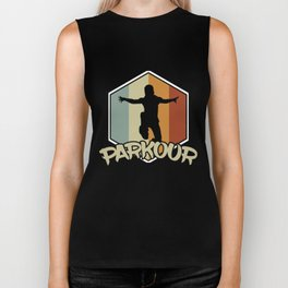 Parkour Retro Vintage Run Jump Fly Freerunning Obstacle Course Balance Climbing Gift Biker Tank