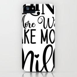 Water Bottle Designs Drink More Water Make More Milk Breastfeeding iPhone Case