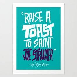 Joe Strummer Art Print
