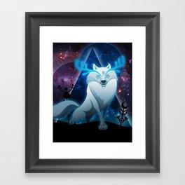 The wonder wolf Framed Art Print