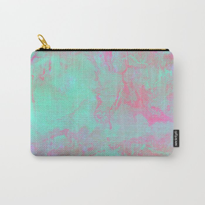 Teal Pink Carry-All Pouch