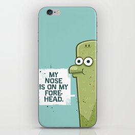 Forehead Nose iPhone Skin