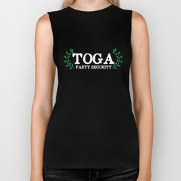 Toga Party Security Guard Funny Fraternity Biker Tank