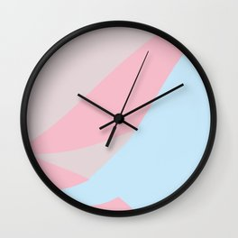 Lassitude soft pink and light blue Wall Clock