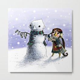 Medli's Snowman Metal Print