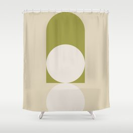 Contemporary Composition 05 - Golden Lime Shower Curtain