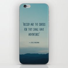 blessed are the curious ... iPhone & iPod Skin