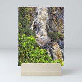 Waterfall in the rainforest Mini Art Print