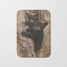 Black Bear Cubs - Curious Cubs Bath Mat