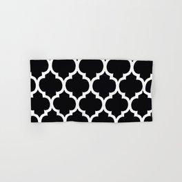 Moroccan Black and White Lattice Moroccan Pattern Hand & Bath Towel