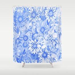 Blue gazanias Shower Curtain