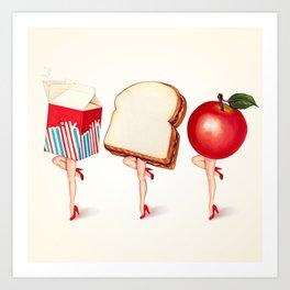 Lunch Ladies Pin-Ups Art Print