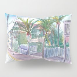 Blue Heaven Thomas St Patio Key West Florida Pillow Sham