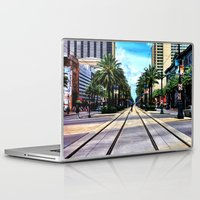 new orleans Laptop & iPad Skins featuring New Orleans by Resistance