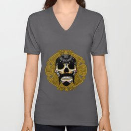 Cholo Sugar Skull Unisex V-Neck