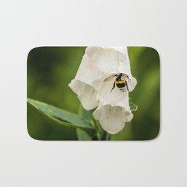 Bumblebee in the campanula Bath Mat