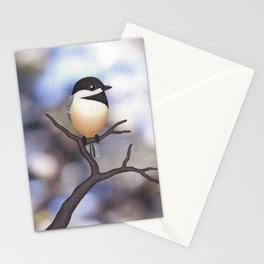 Marley the black-capped chickadee Stationery Cards