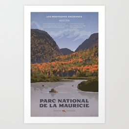 Parc National de la Mauricie Art Print