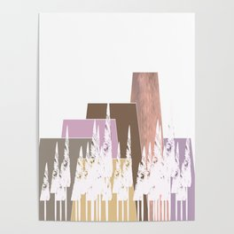 Pastel Mountains Poster