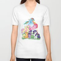 my little pony V-neck T-shirts featuring My Little pony by Paul Abstruse