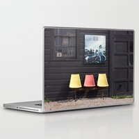 posters Laptop & iPad Skins featuring Seats outside Heritage Posters by RMK Creative
