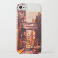 new york city iPhone & iPod Cases featuring New York City Alley by Vivienne Gucwa
