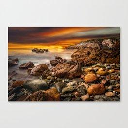 Rhoscolyn Coastline Sunset Canvas Print