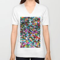 confetti V-neck T-shirts featuring Confetti by Laura Ruth