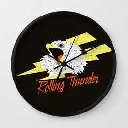 Screaming Eagle (Rolling Thunder) Wall Clock