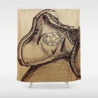 chuck Shower Curtains featuring Chuck it by Esteban Garza