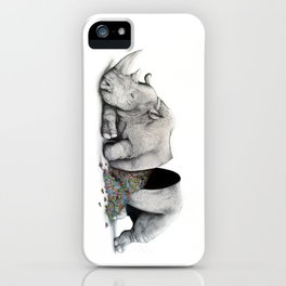 Rhino Slumber iPhone Case