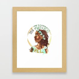 Liberty and Justice For All Framed Art Print