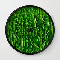 vegetable Wall Clocks featuring green vegetable by clemm