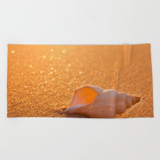 Golden lights Beach Towel