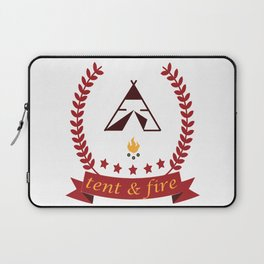Tent and Fire Laptop Sleeve