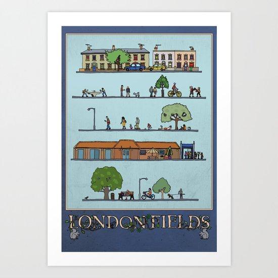 London Fields Art Print