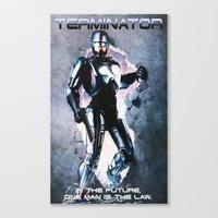 terminator Canvas Prints featuring Terminator by MartiniWithATwist