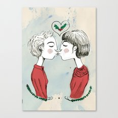 The First Kiss  Canvas Print