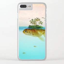 Goldfish Island II Clear iPhone Case