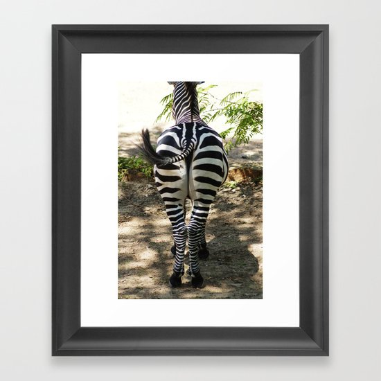 Do These Stripes Make My Butt Look Big? Framed Art Print