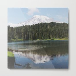 Reflection Lake at Mount Rainier Metal Print