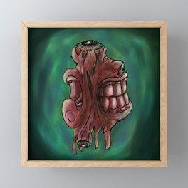Flesh Mouths Framed Mini Art Print