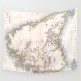 Vintage Map of Tasmania (1837) Wall Tapestry