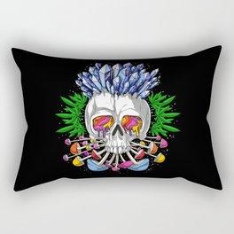 Psychedelic Skull Rectangular Pillow
