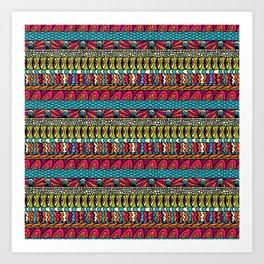 Mexican Colors 4 Art Print