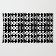 Diamonds Pattern - Black and White and Grey Rug