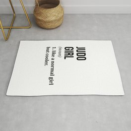 Judo Girl Funny Quote Rug