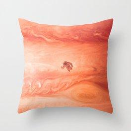 Gone Astronaut Throw Pillow
